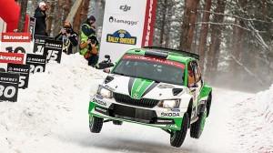 Švédská rallye: dvě Fabie R5 na stupních vítězů