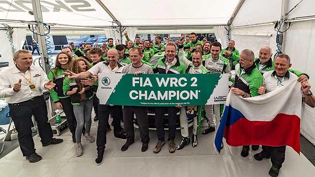 Škoda znovu obhájila titul ve WRC2
